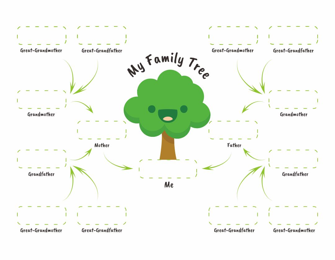 9 Best Printable Family Tree Worksheet