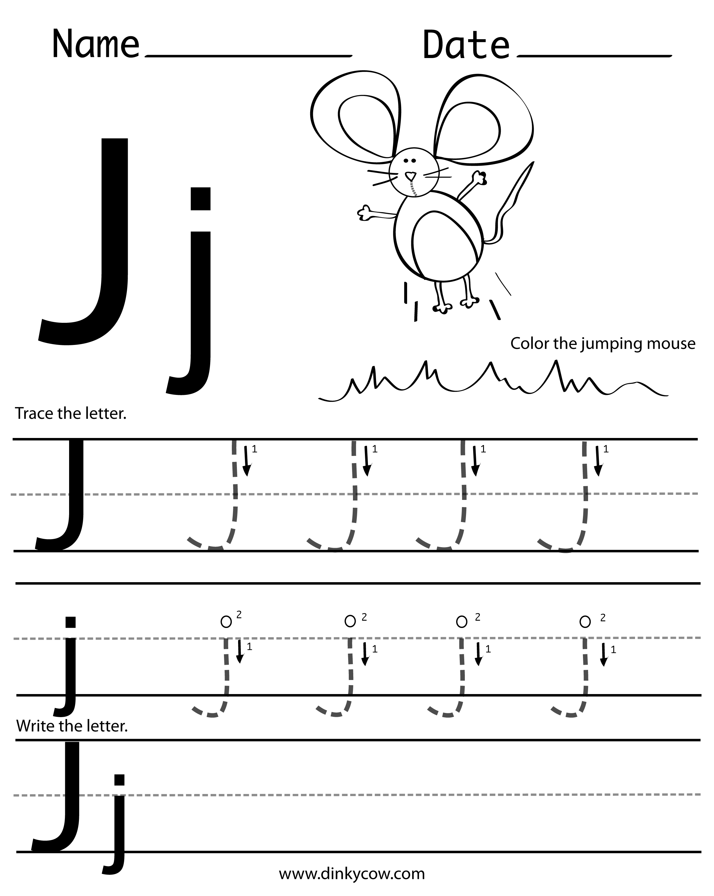 5 Best Images Of Letter J Printable Worksheets