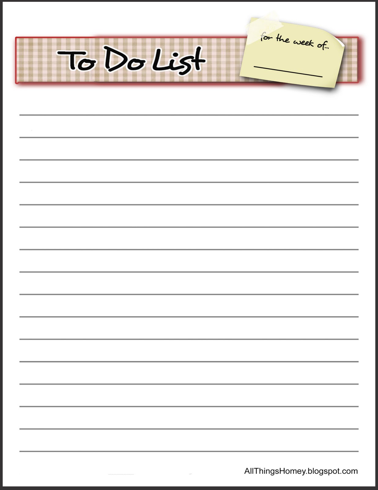 6 Best Images Of Things To Do List Printable Template