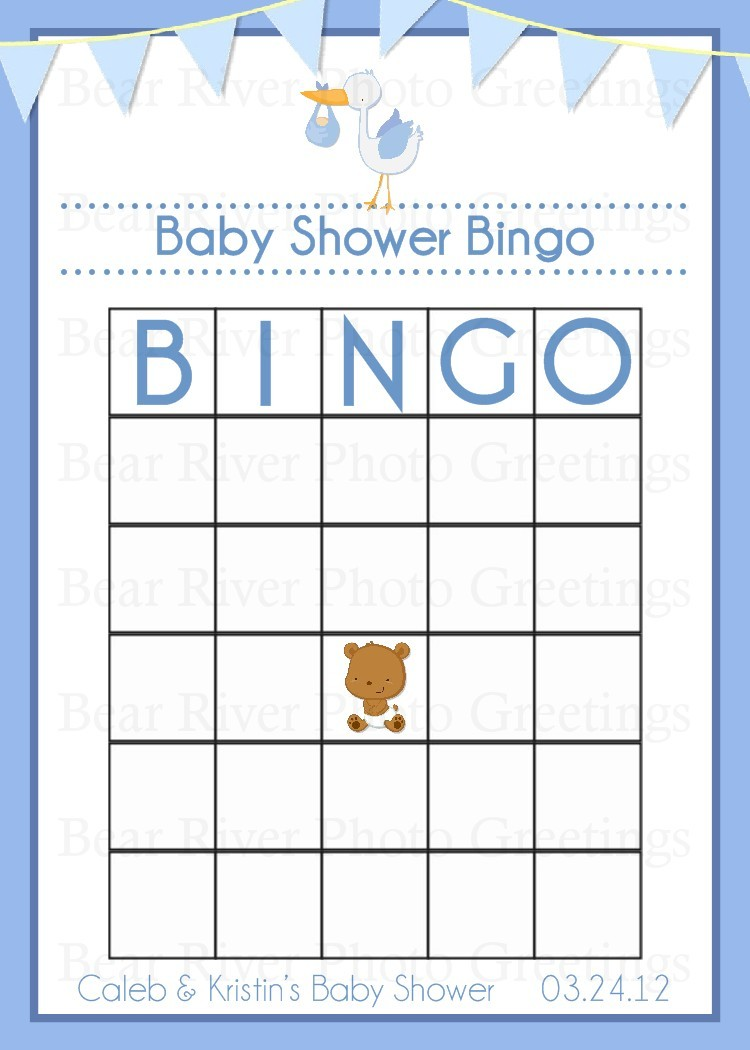 Free Baby Bingo Template Printable Shower Blank Shower Ow L Game