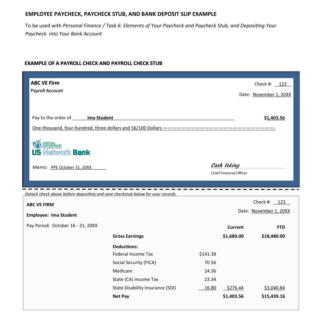 Blank Paycheck Template premium pay stub word excel templates – Blank Pay Stubs Template