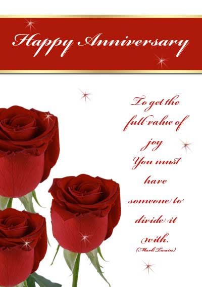 Free Printable Wedding Anniversary Card For Husband   Wedding
