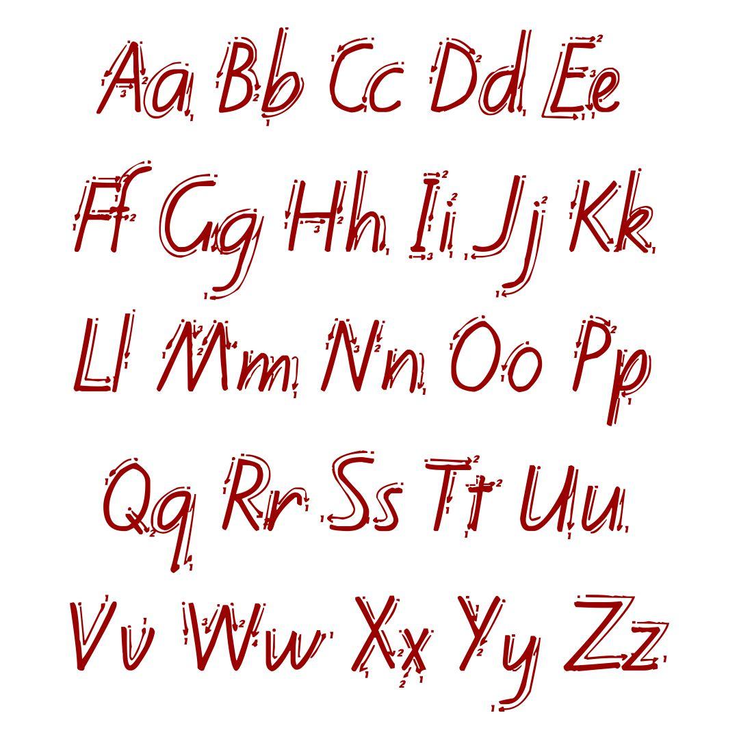 6 Best Printable M Cript Alphabet Chart