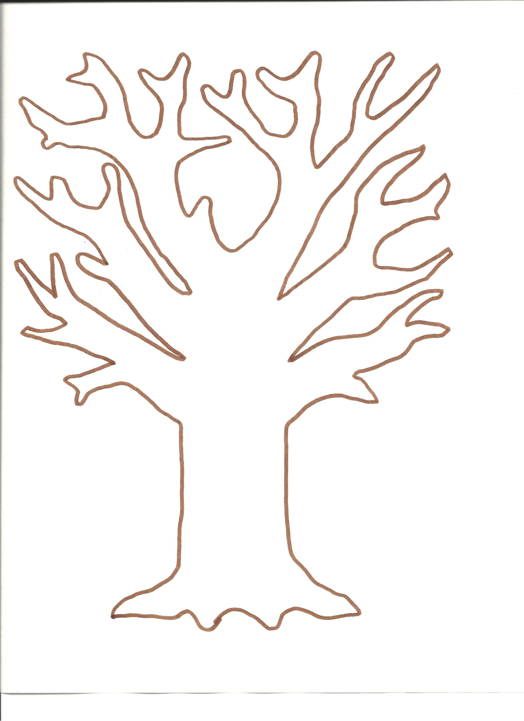 6 Best Images Of Fall Tree Printable For Preschool