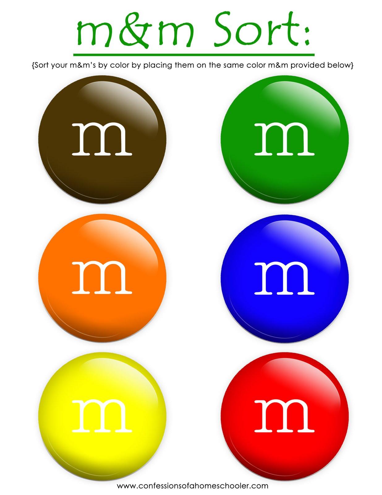 6 Best Images Of Mm Sorting Math Worksheet Printable