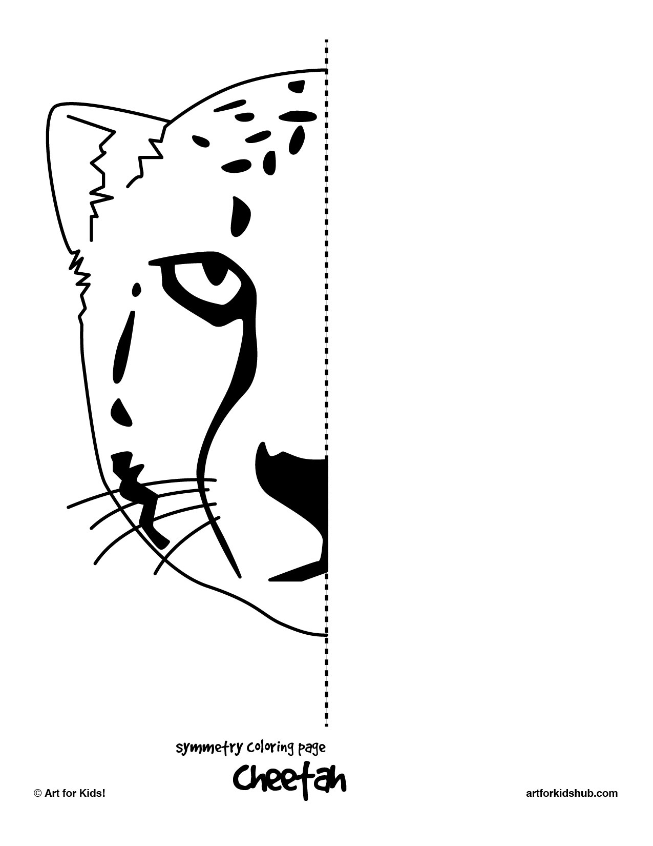 Free Printable Symmetry Drawings Sketch Coloring Page