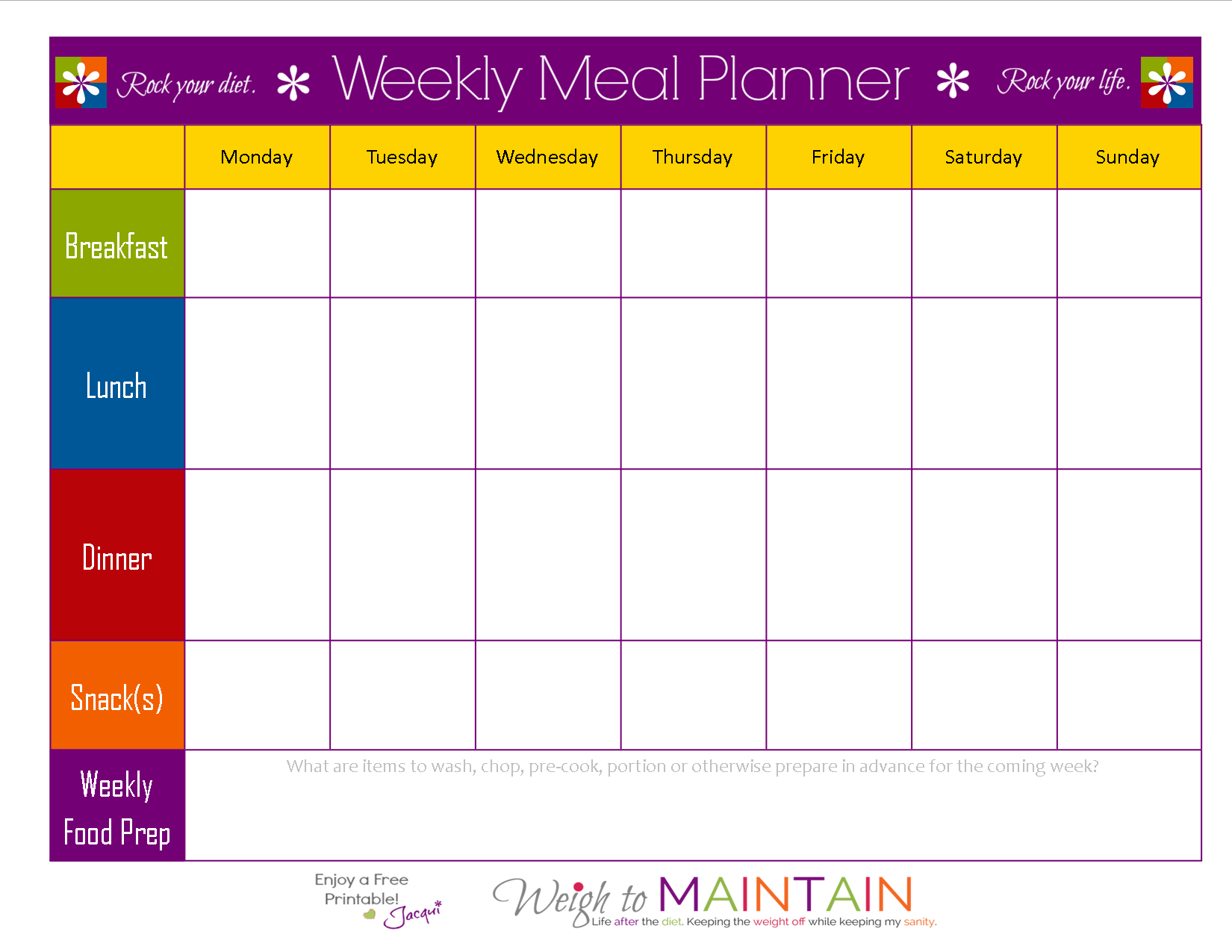 8 Best Images Of 21 Day Fix Meal Plan Printable