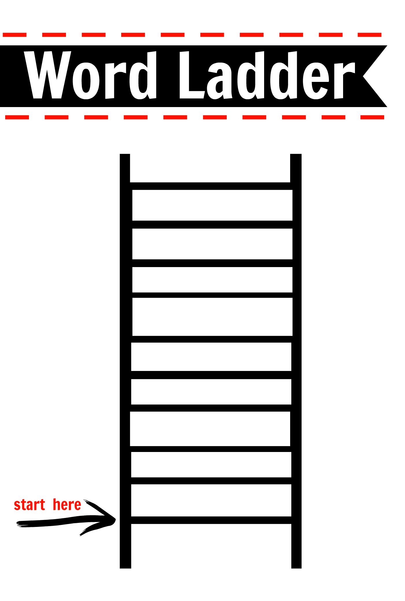 6 Best Images Of Printable Picture Of A Ladder