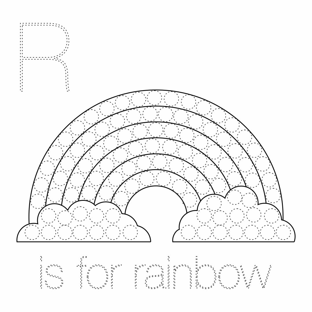 6 Best Images Of Rainbow Do A Dot Art Printables