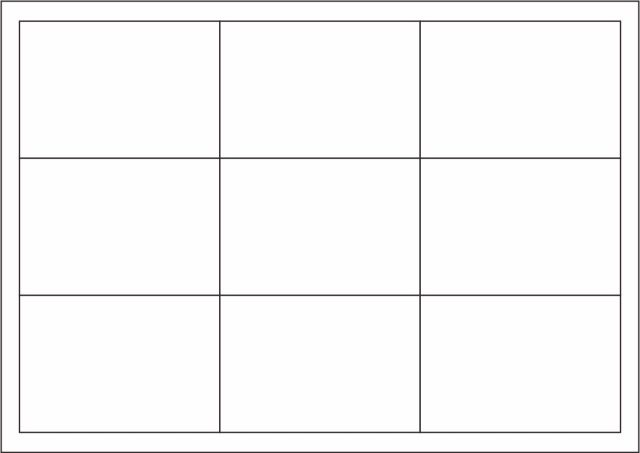 Playing Card Template Work Blank #4