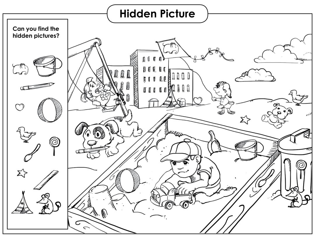Find The Hidden Objects Printable Download This Free