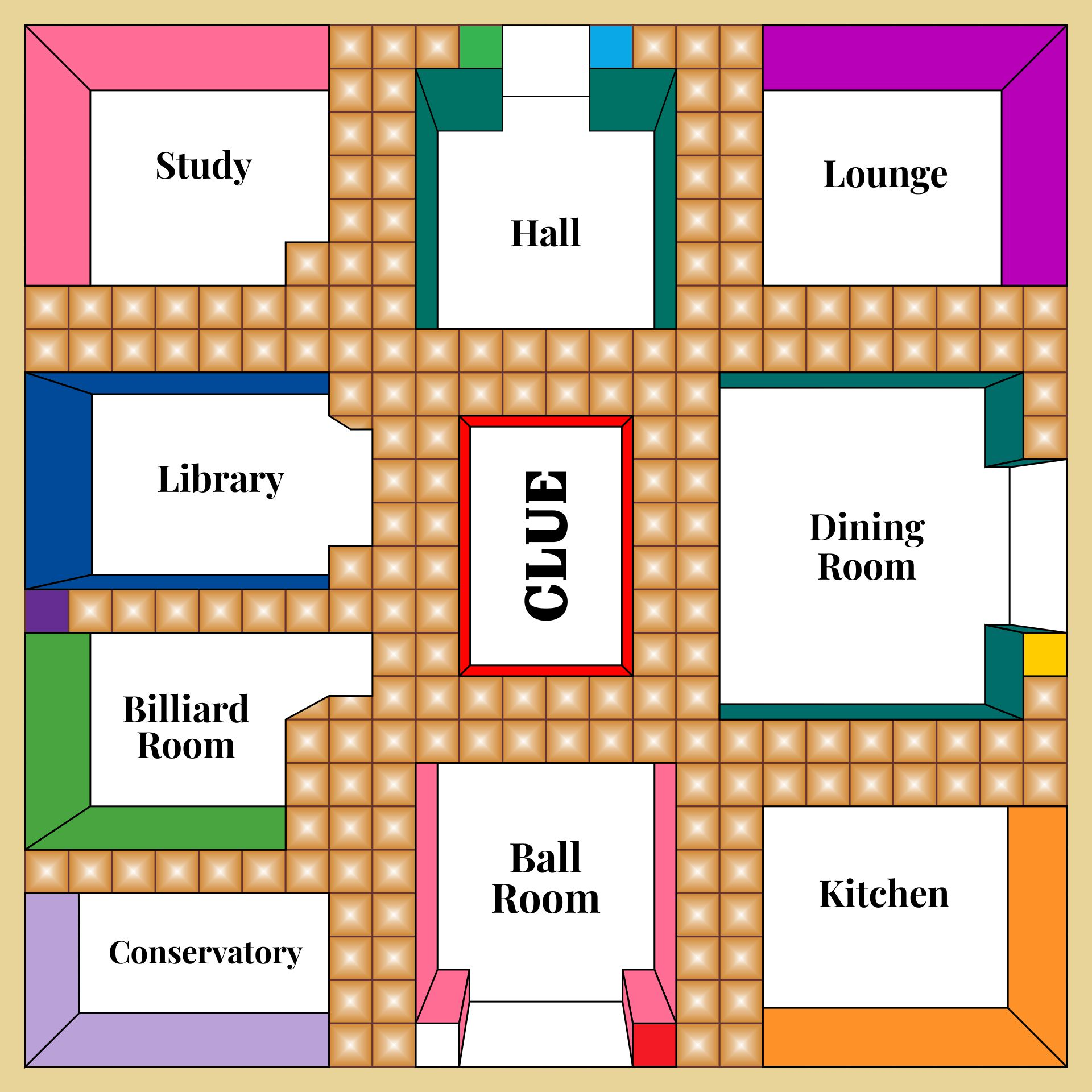 Challenger image regarding clue game board printable