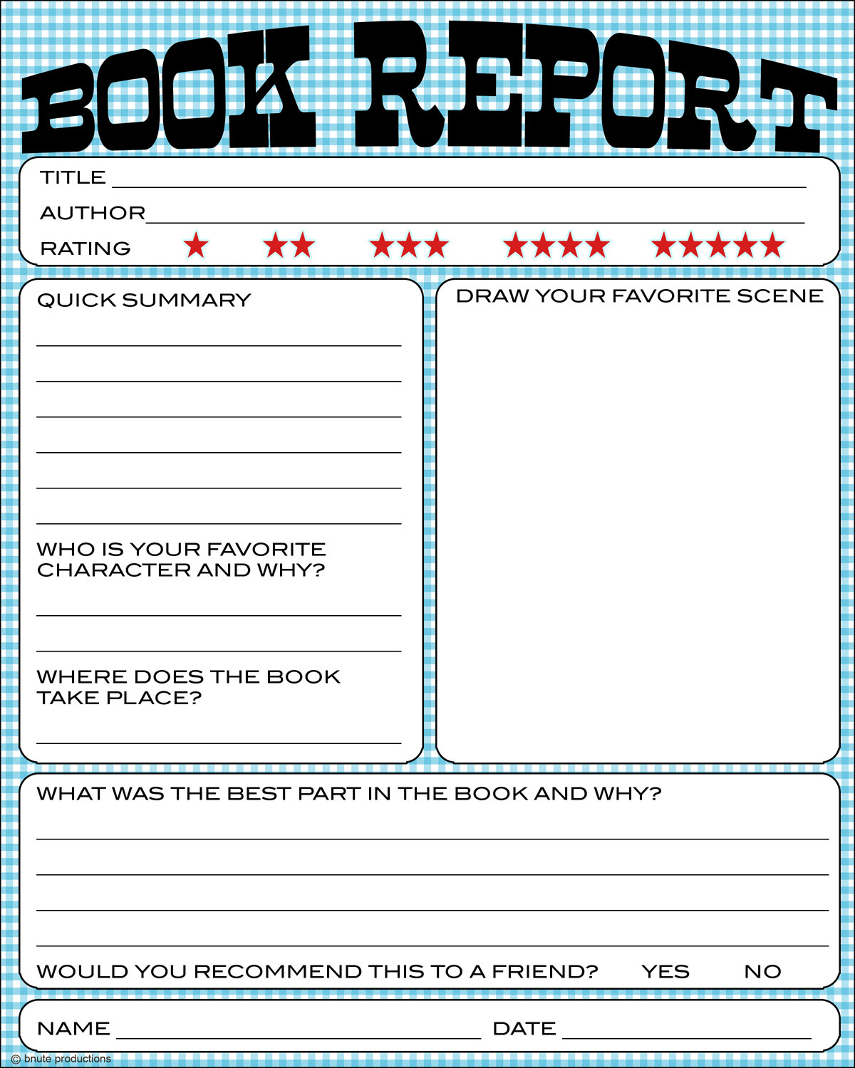 7 Best Images Of Free Printable Kindergarten Book Report