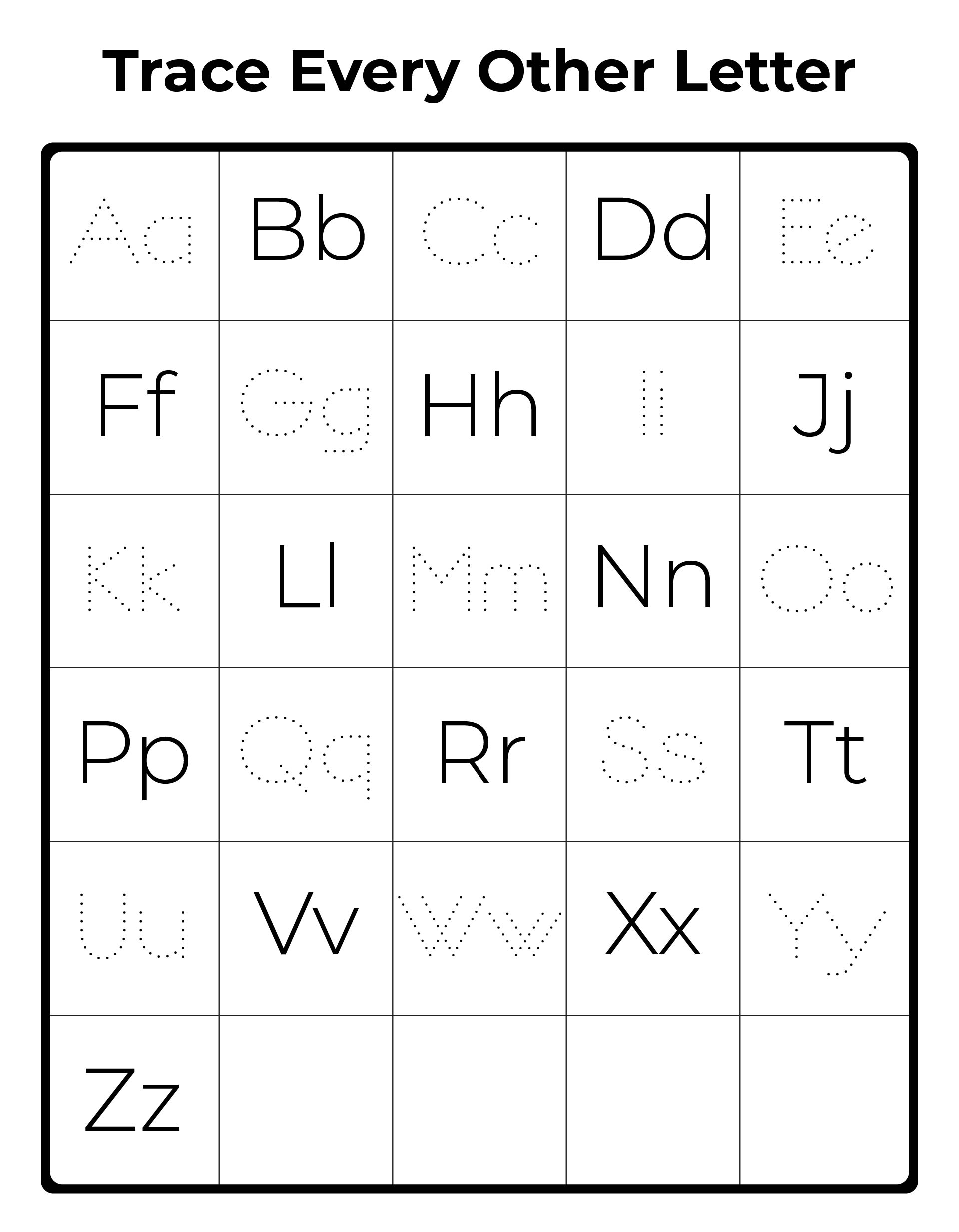 9 Best Images Of Printable Upper And Lowercase Alphabet