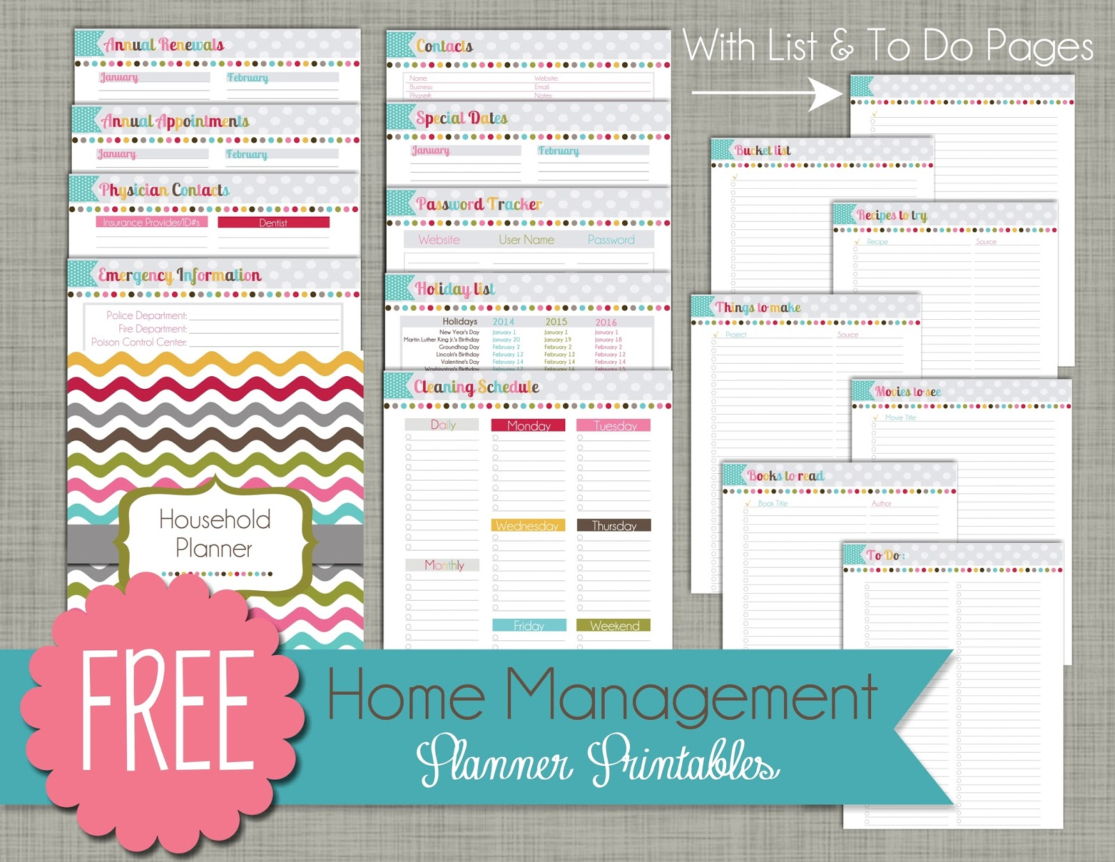 6 Best Images Of Home Planner Free Printables