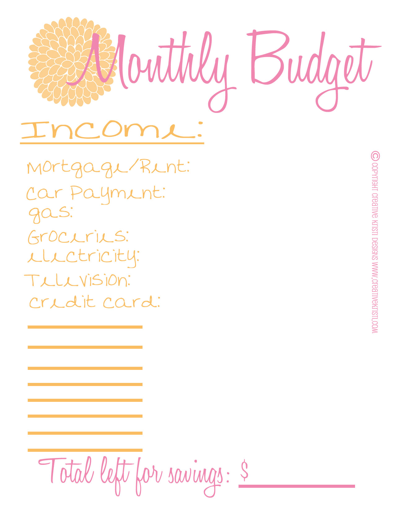 6 Best Images Of Free Printable Monthly Budget Sheet