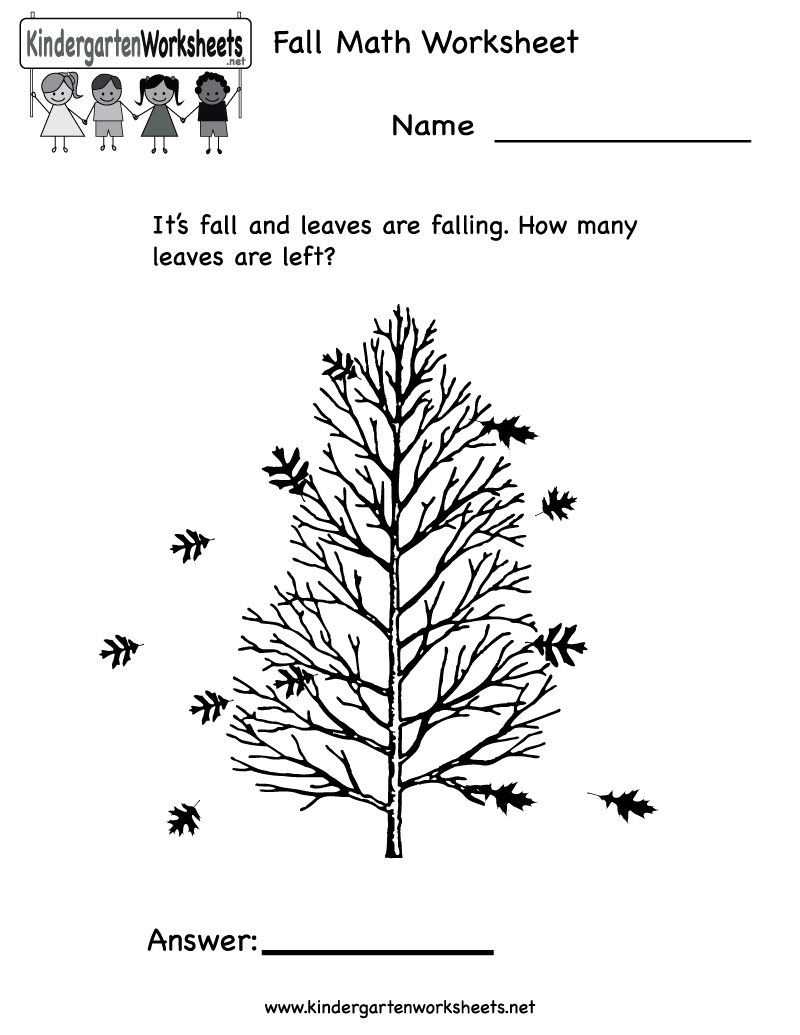 Free Worksheet Fall Math Worksheets fall coloring worksheets to kindergarten math free printable coloring