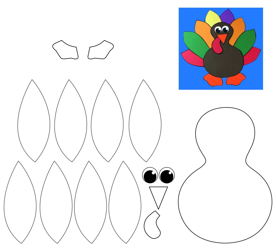 8 Best Images Of Free Printable Thanksgiving Turkey