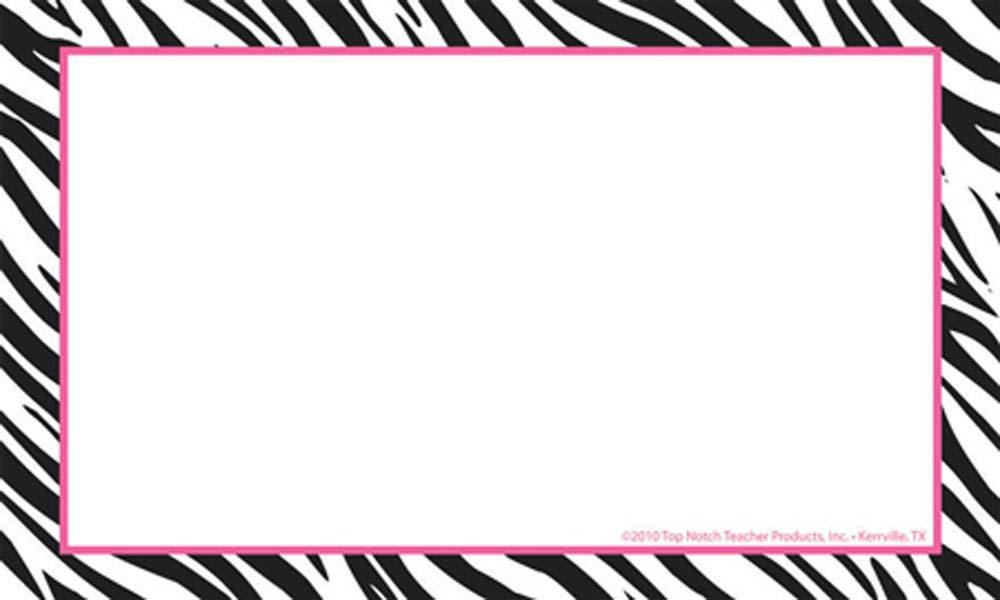 7 Best Images Of 4X6 Printable Borders Free 4X6 Border Templates Zebra Print Border Clip Art
