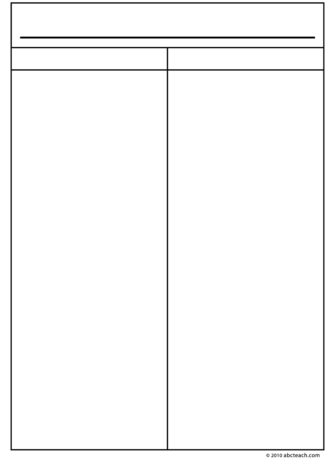 7 Best Images Of Printable Two Column Notes