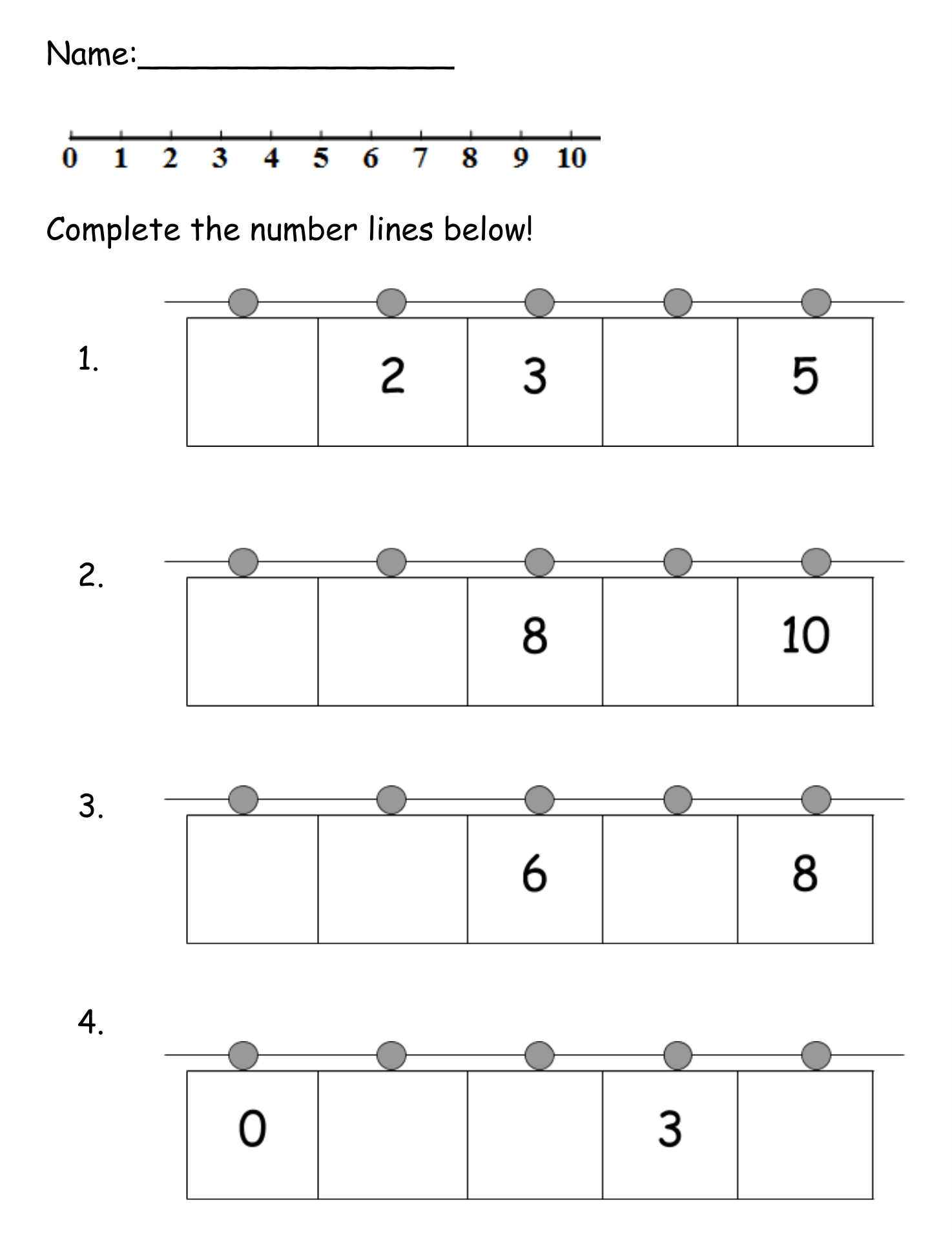 Decimals On A Number Line Worksheet Tes