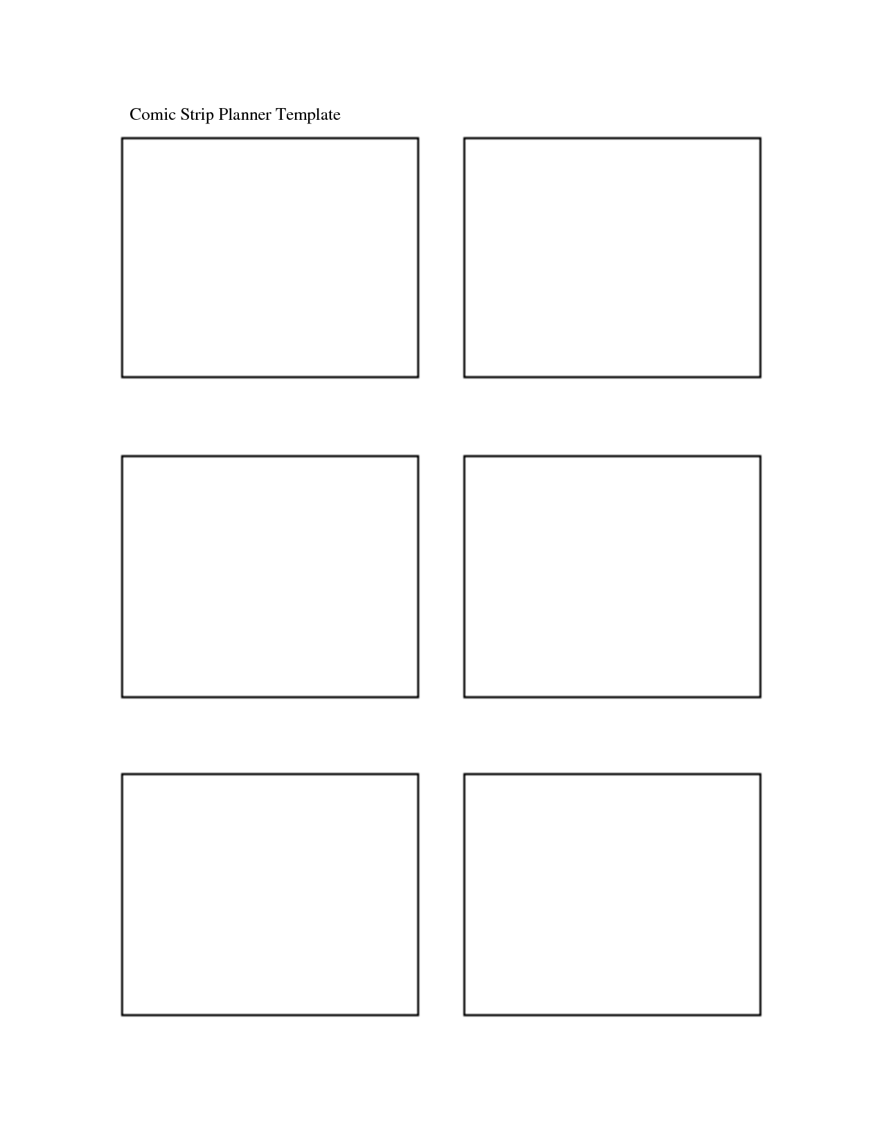 5 Best Images Of Printable Blank Comic Strip Template
