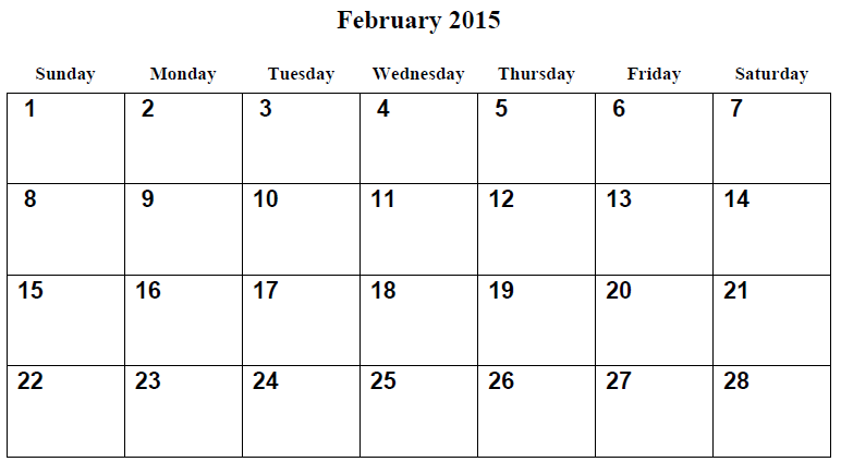 8 best images of free printable february 2015 calendar november