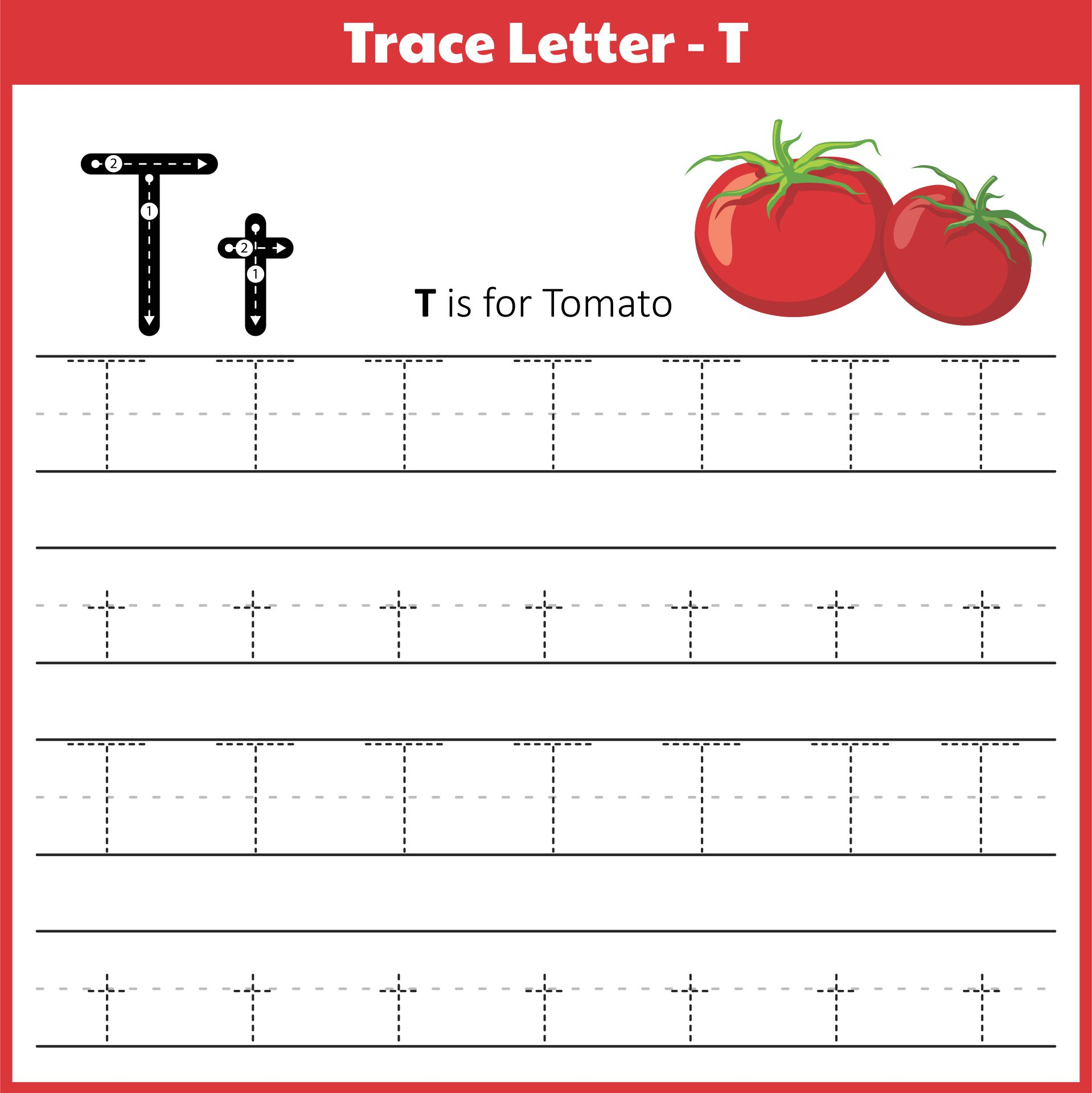 5 Best Images Of Letter T Printables