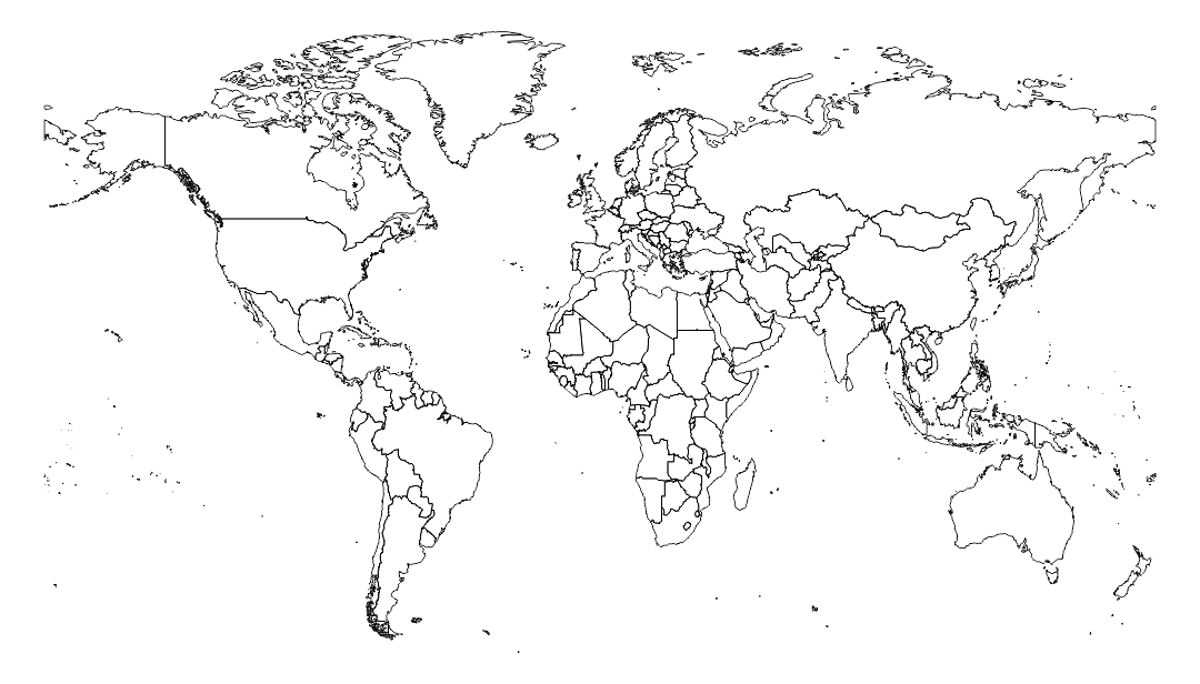 7 Best Images Of Blank World Maps Printable