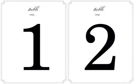 Printable Wedding Table Number Templates Wedding Invitation Sample – Number Template