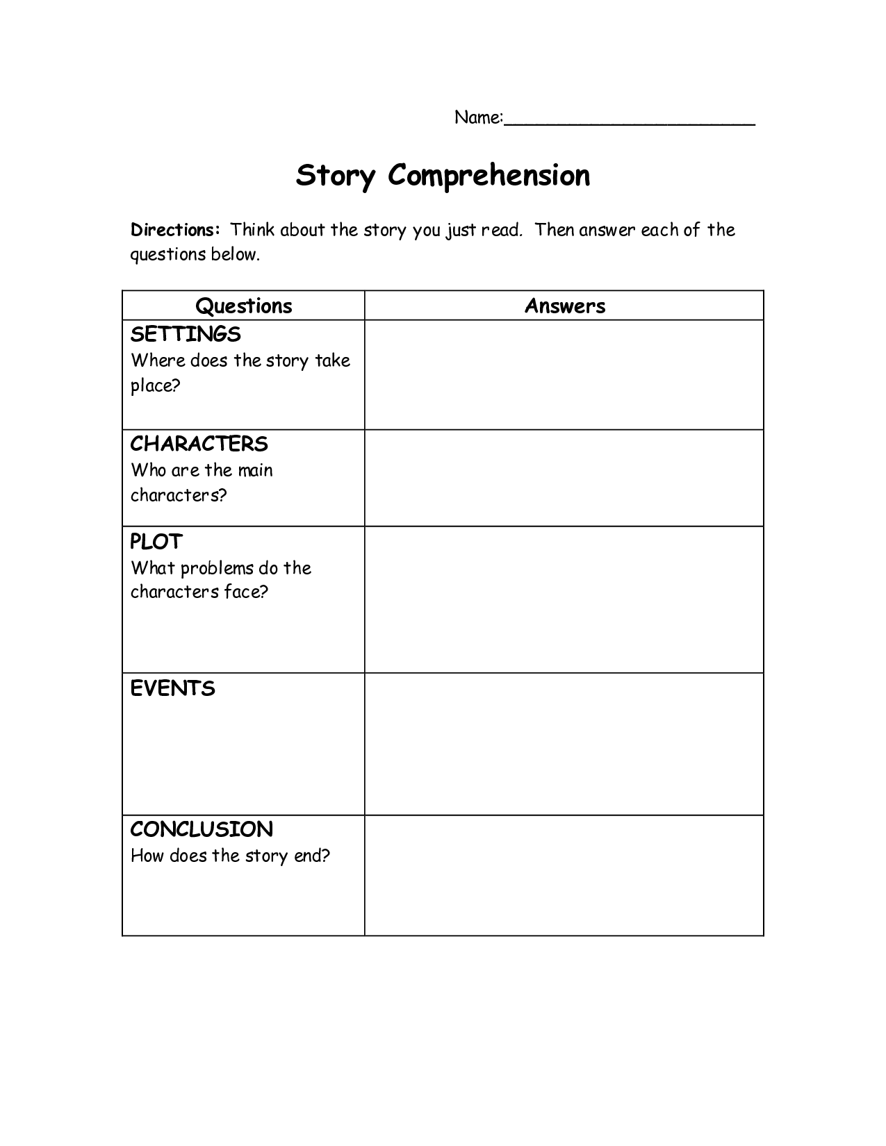 5 Best Images Of Printable 12th Grade Reading Comprehension Worksheets