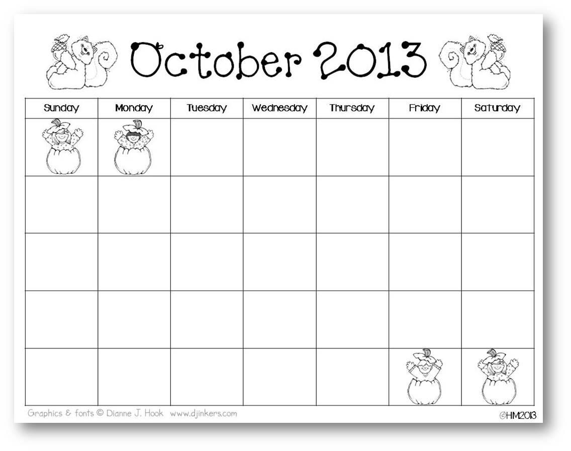 9 Best Images Of Kindergarten Printable Calendar Month By