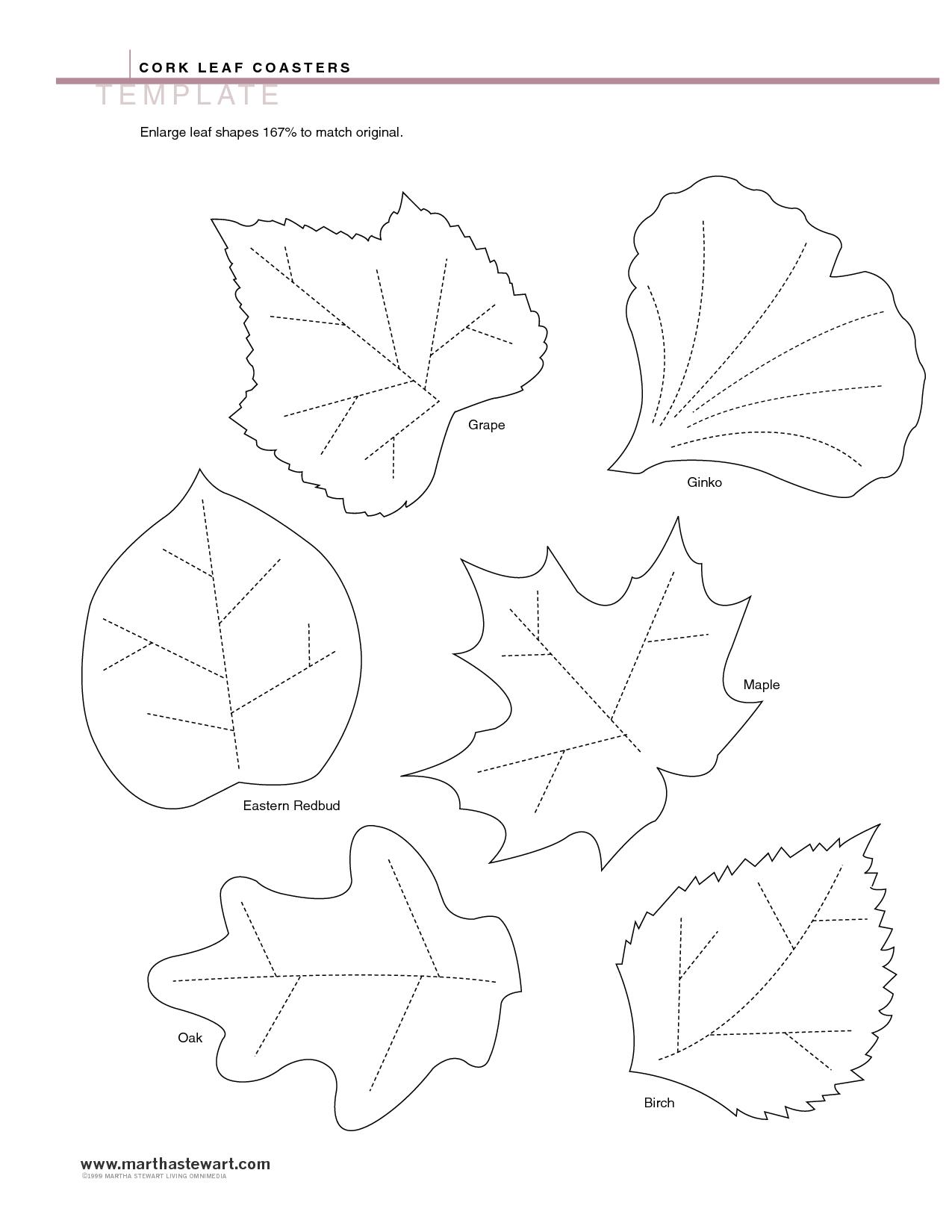 4 Best Images Of Leaf Templates Printable