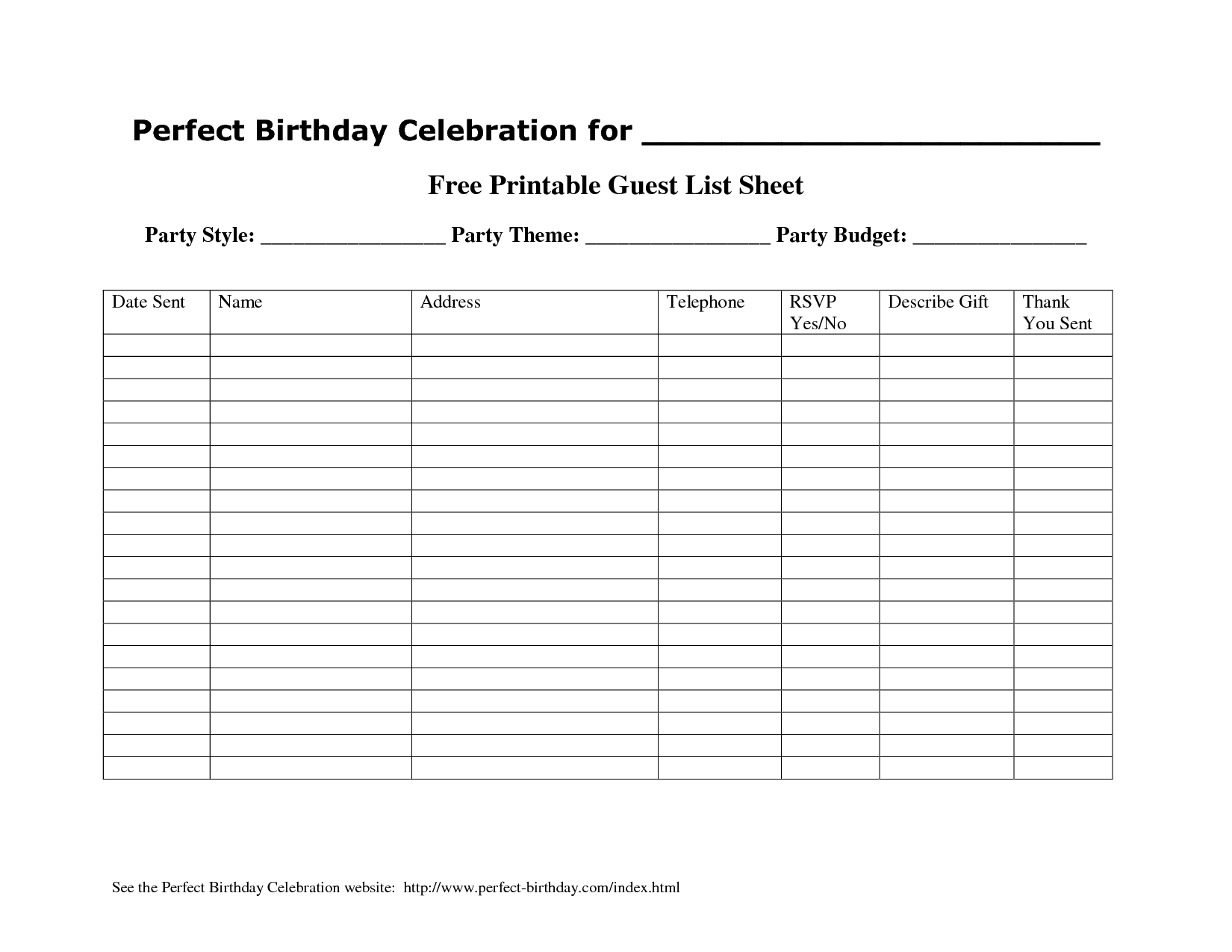 party guest list template sample templates 17 wedding guest list – Guest List Sample