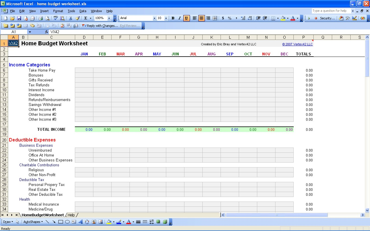 7 Best Images Of Personal Monthly Budget Spreadsheet