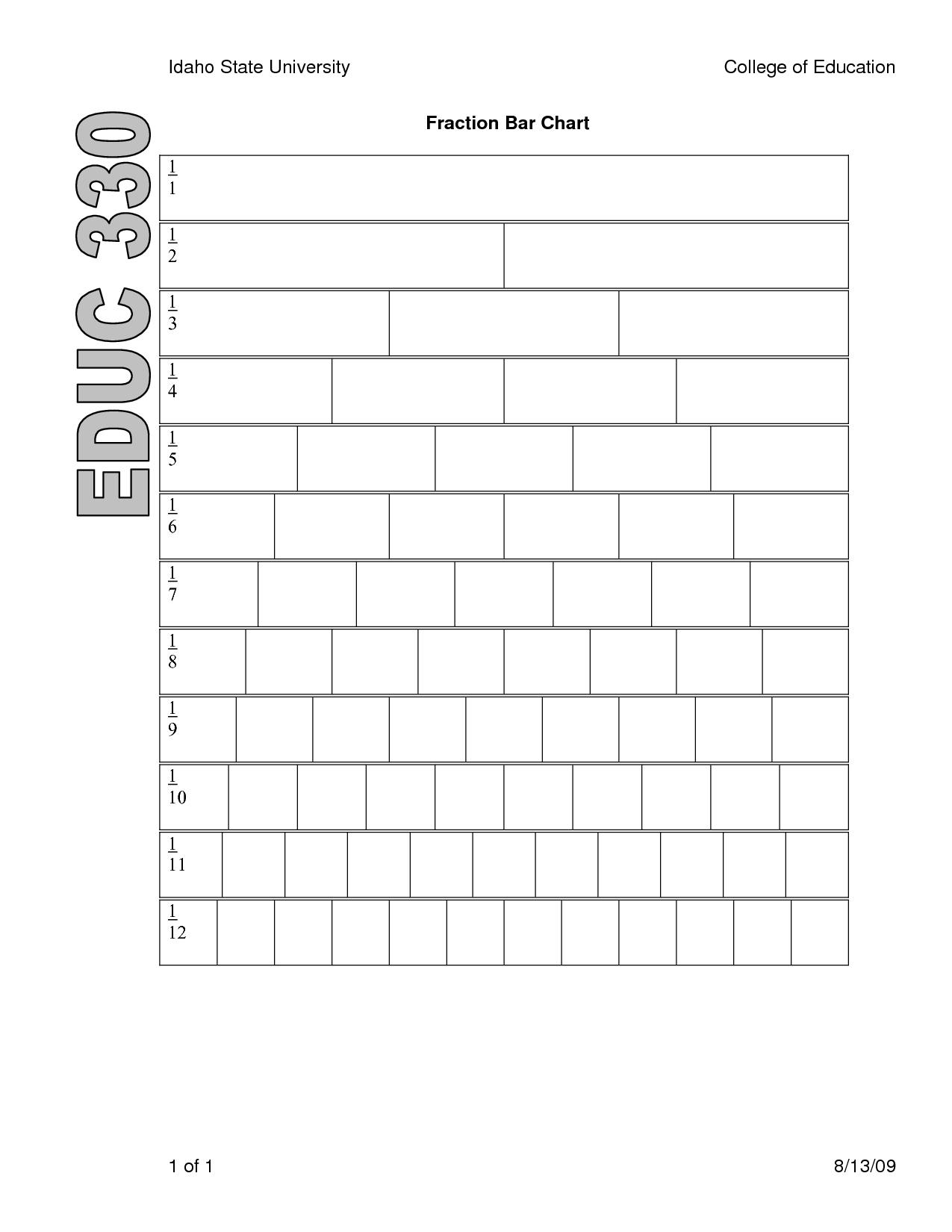 worksheet Fraction Strip Worksheet templates for fraction circles halves and thirds pdf eworkshop 4 best images of printable blank bars fraction