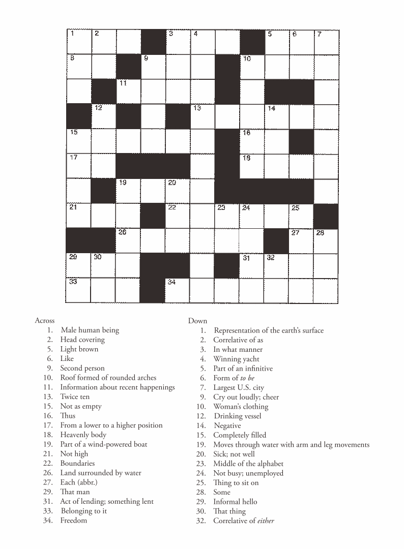 4 Best Images Of Free Printable Entertainment Crossword