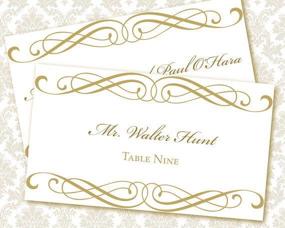 Diy Wedding Place Cards Templates Wedding Invitation Ideas