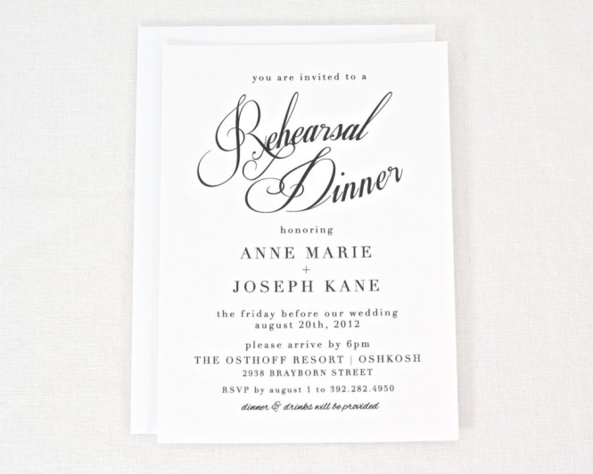 Rehearsal Dinner Invitation Template Printable Free Wedding – Free Dinner Invitation Templates Printable