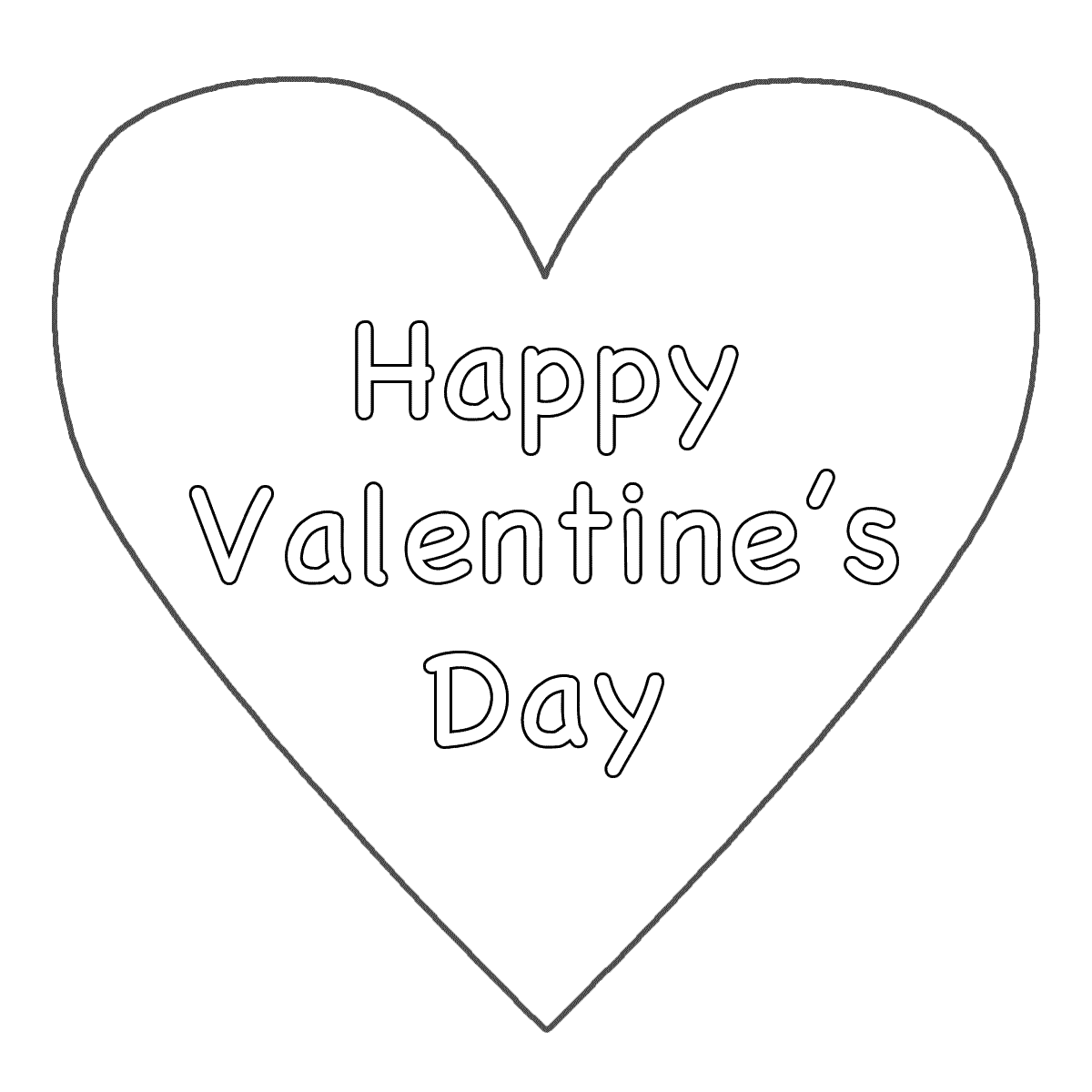 6 Best Images Of Big Hearts Valentine Printable Coloring