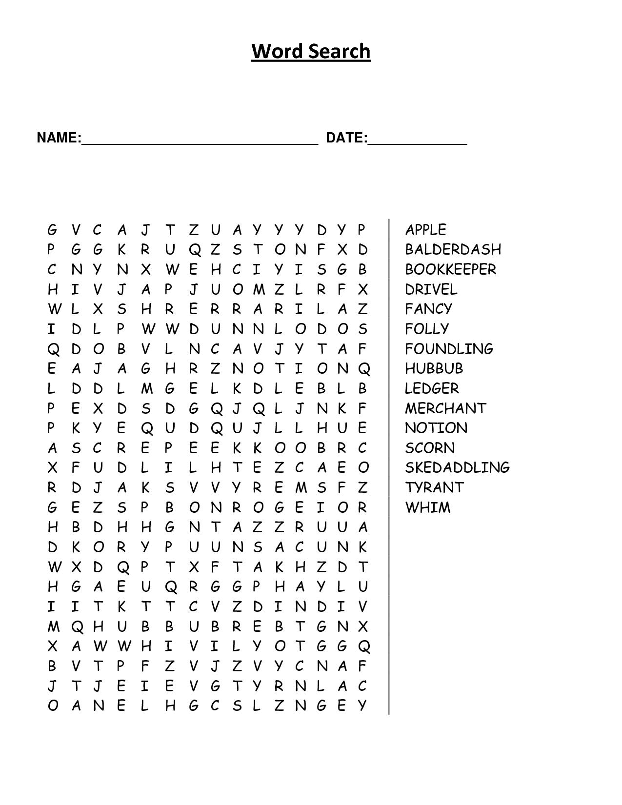 4 Best Images Of Printable Word Finds For Elderly