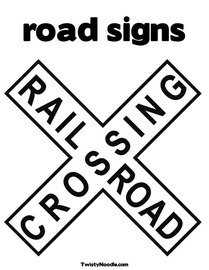 6 best images of road signs printable coloring pages road sign