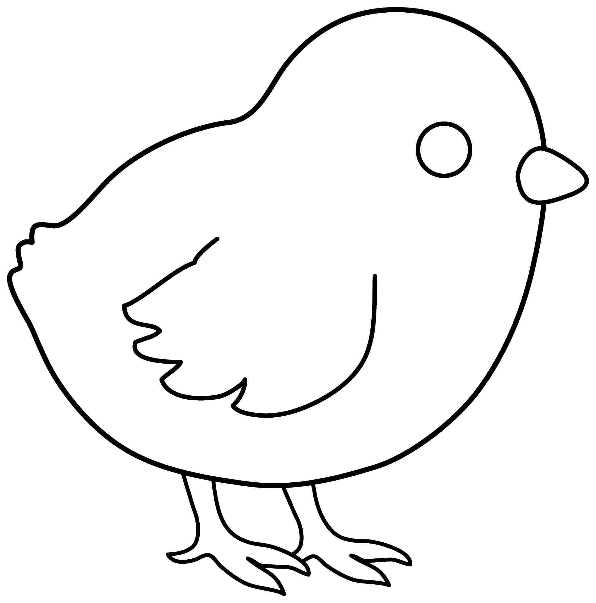 best images of chick and baby chick outline