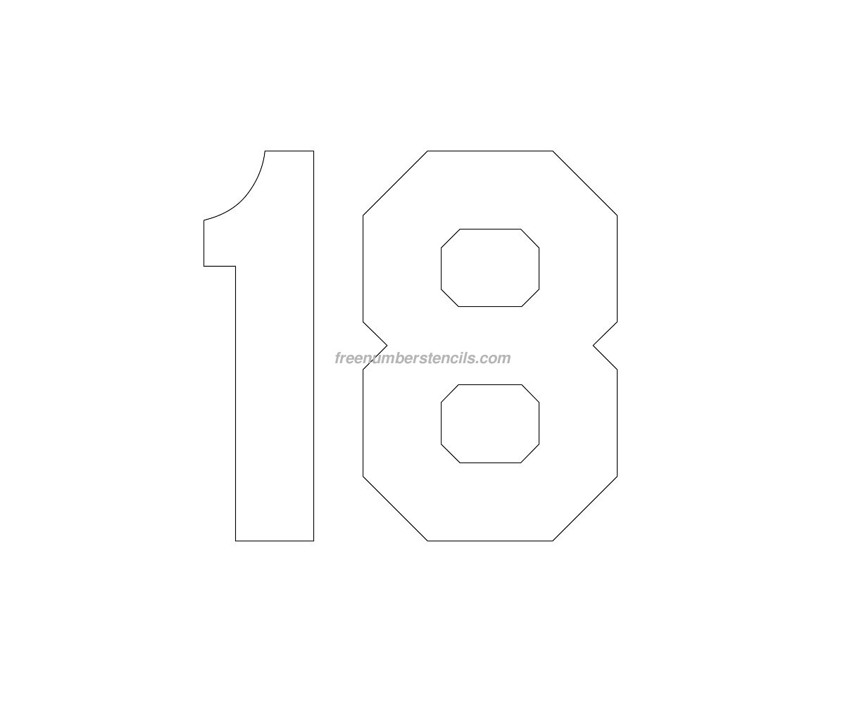 picture relating to Large Printable Numbers 1-20 named Superior Selection Templates. no cost printable amount stencils