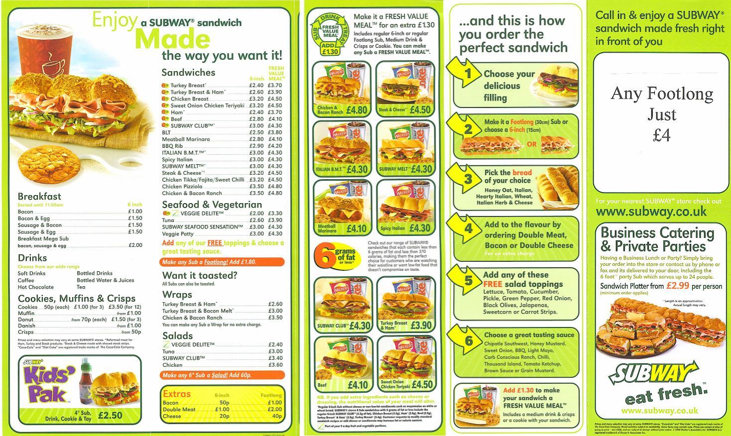 Fast Pdf Food Menu
