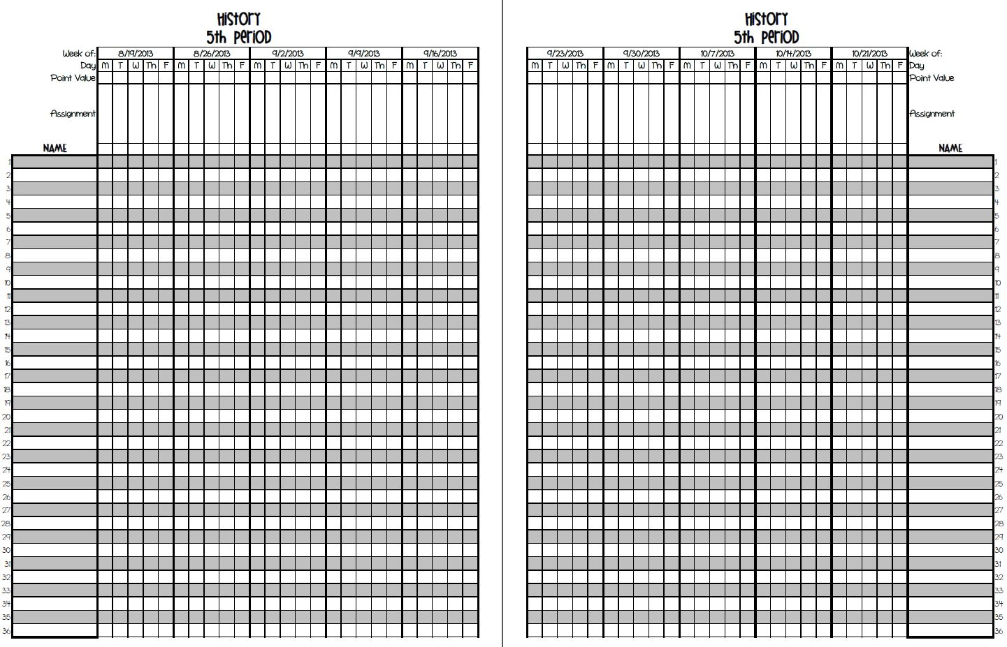 image regarding Printable Gradebook Template Word known as Excel Gradebook Template. halloween clip artwork additionally minion