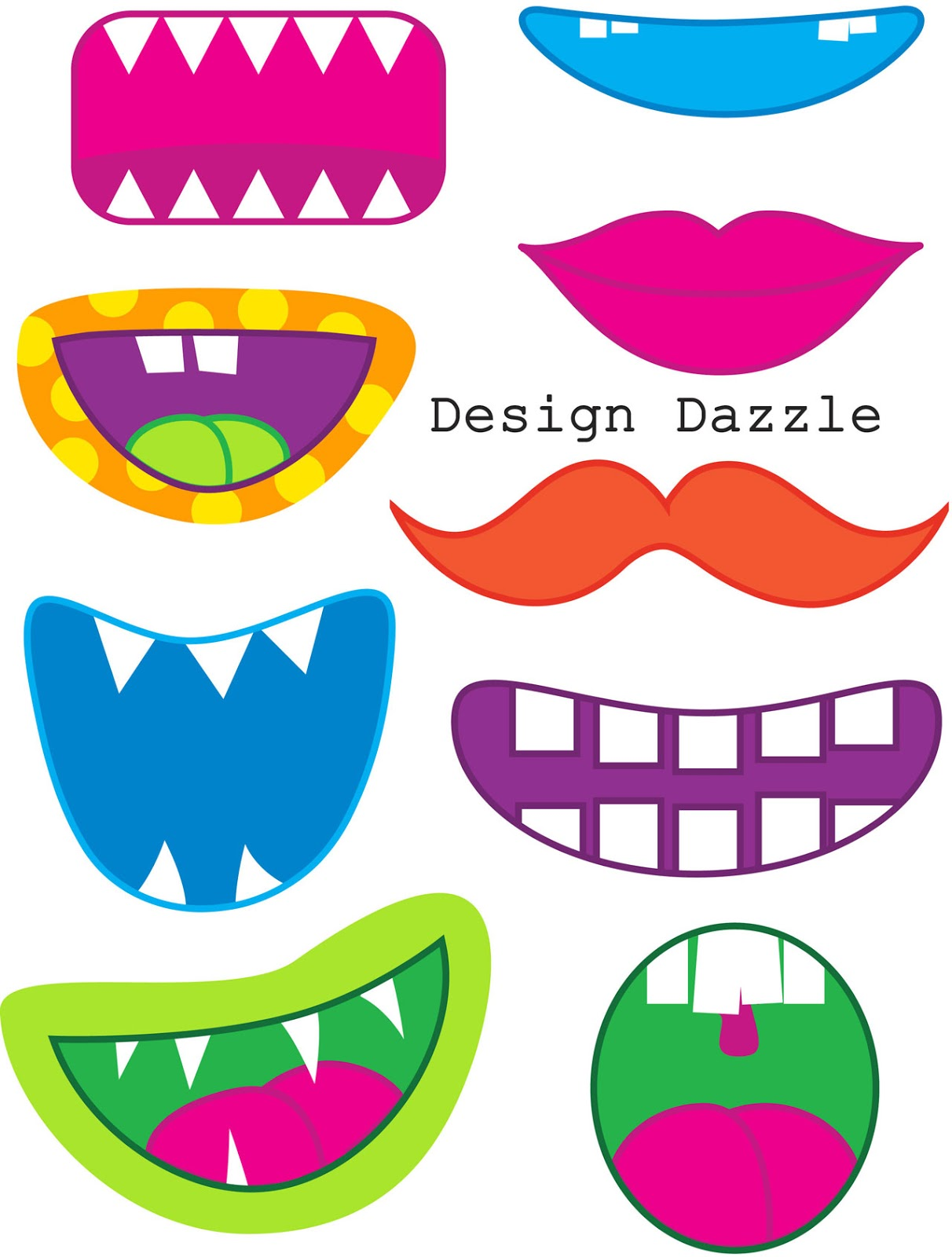 6 Best Images Of Funny Face Parts Printable