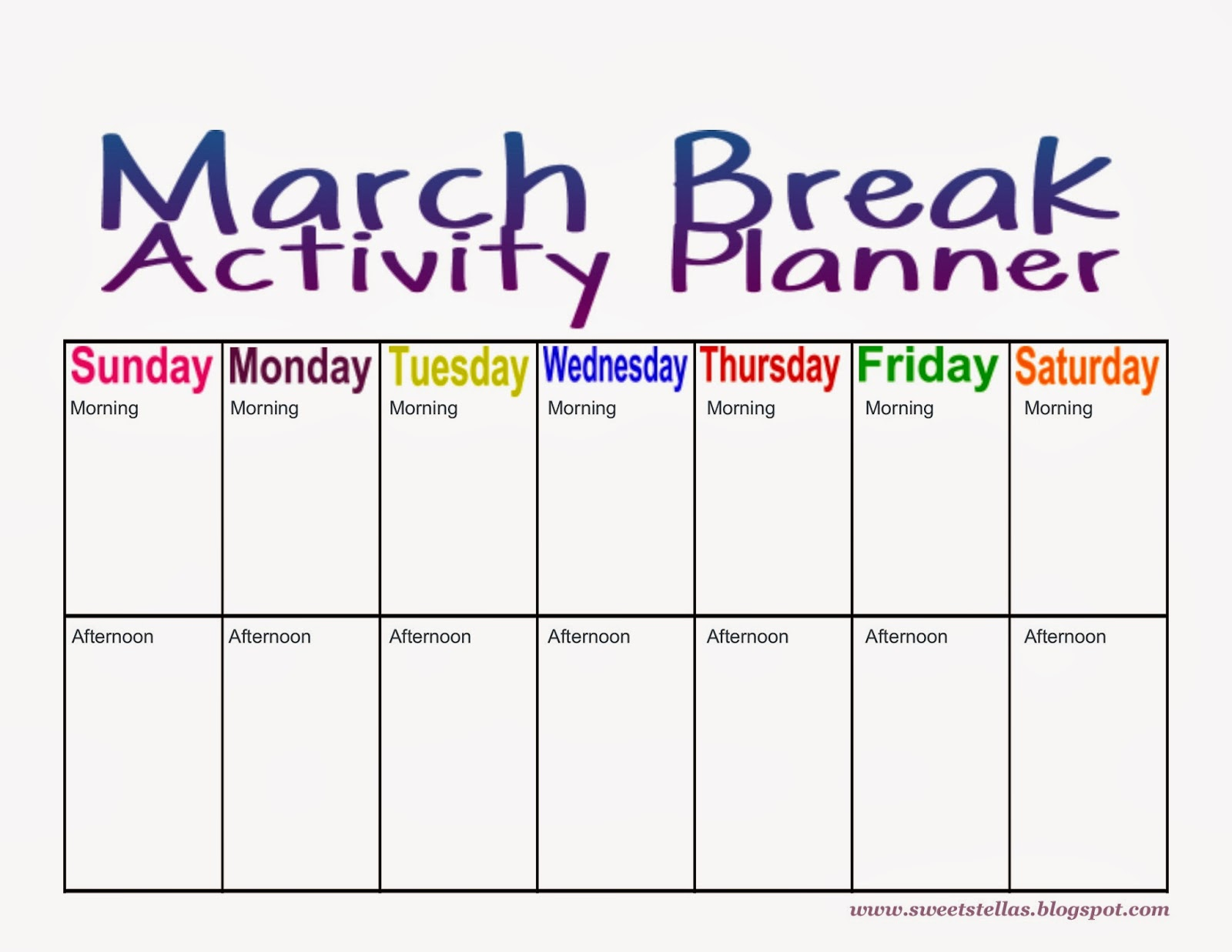 7 Best Images Of March Printable Activity