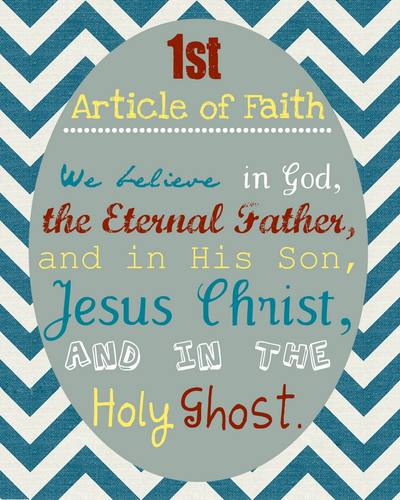 7 Best Images Of First Article Of Faith Printable