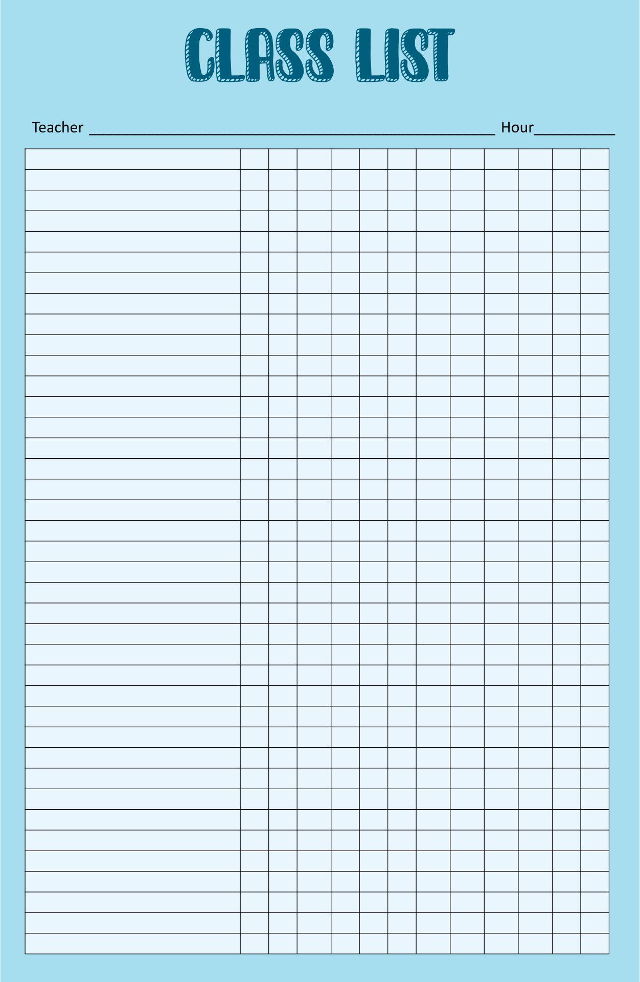 attendance sheet templates best attendance inspireyourself shop 1 – Free Roster Template